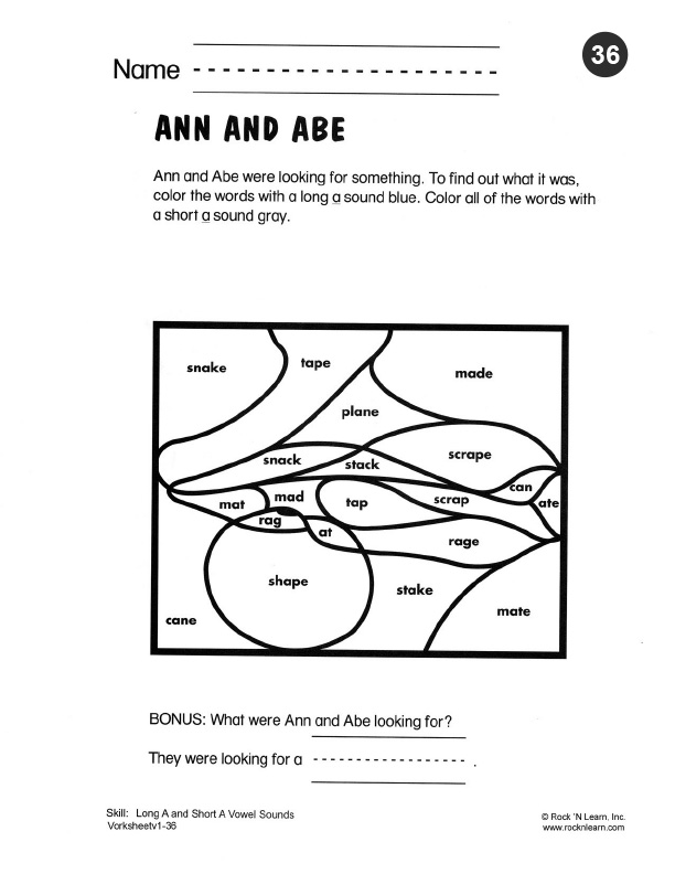 ay word family worksheets long vowel sound word list long a cvce word ...