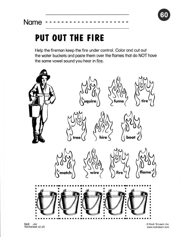 Phonics Worksheet 60